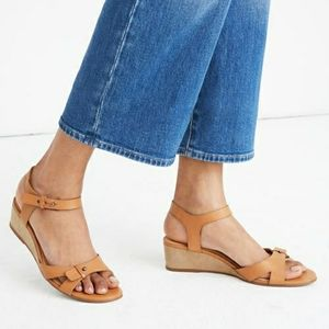 Madewell Joan Tan Leather Sandals